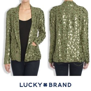 Lucky Brand Sequin Cameo Jacket NWT Large / XL